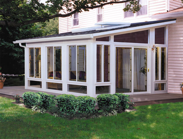 Eagle windows doors and four season sun rooms action for Porch sunroom